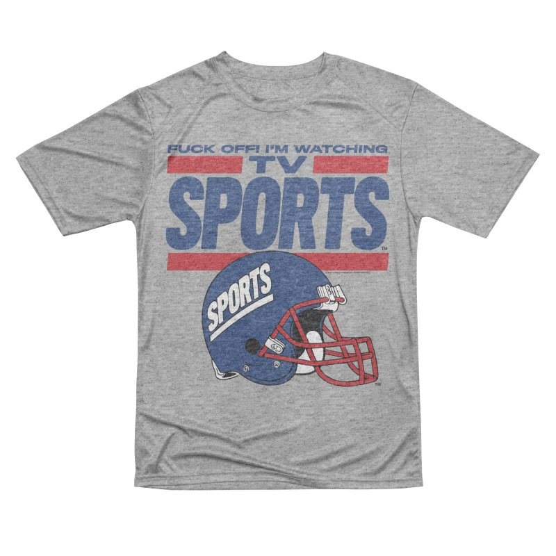 TV SPORTS Men's Performance T-Shirt by Teenage Stepdad
