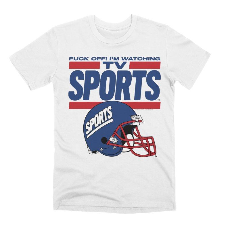 TV SPORTS Men's Premium T-Shirt by Teenage Stepdad