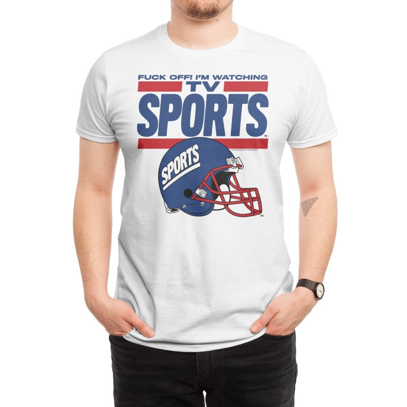 TV SPORTS Men's T-Shirt by Teenage Stepdad