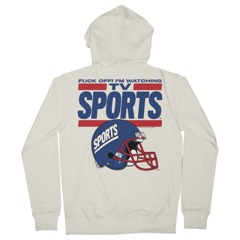 TV SPORTS Men's French Terry Zip-Up Hoody by Teenage Stepdad