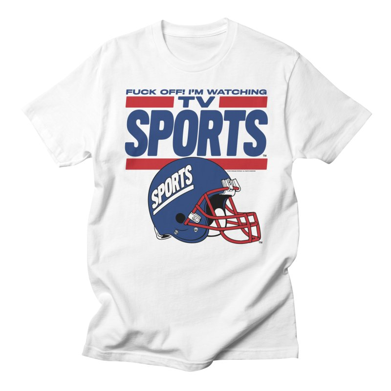 TV SPORTS Women's Regular Unisex T-Shirt by Teenage Stepdad