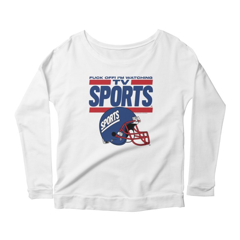 TV SPORTS Women's Scoop Neck Longsleeve T-Shirt by Teenage Stepdad