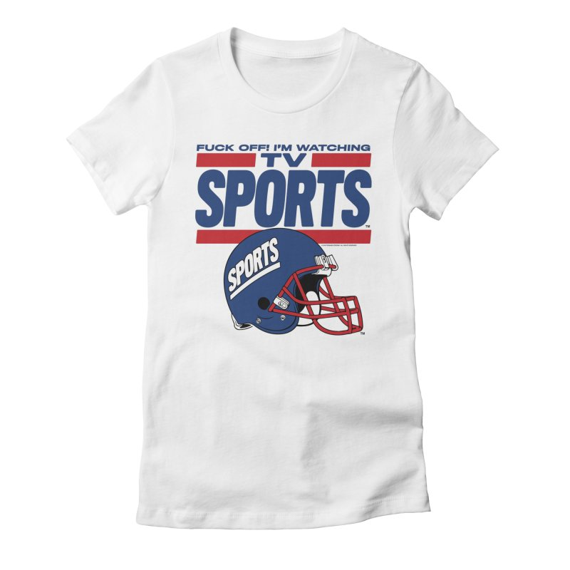TV SPORTS Women's Fitted T-Shirt by Teenage Stepdad