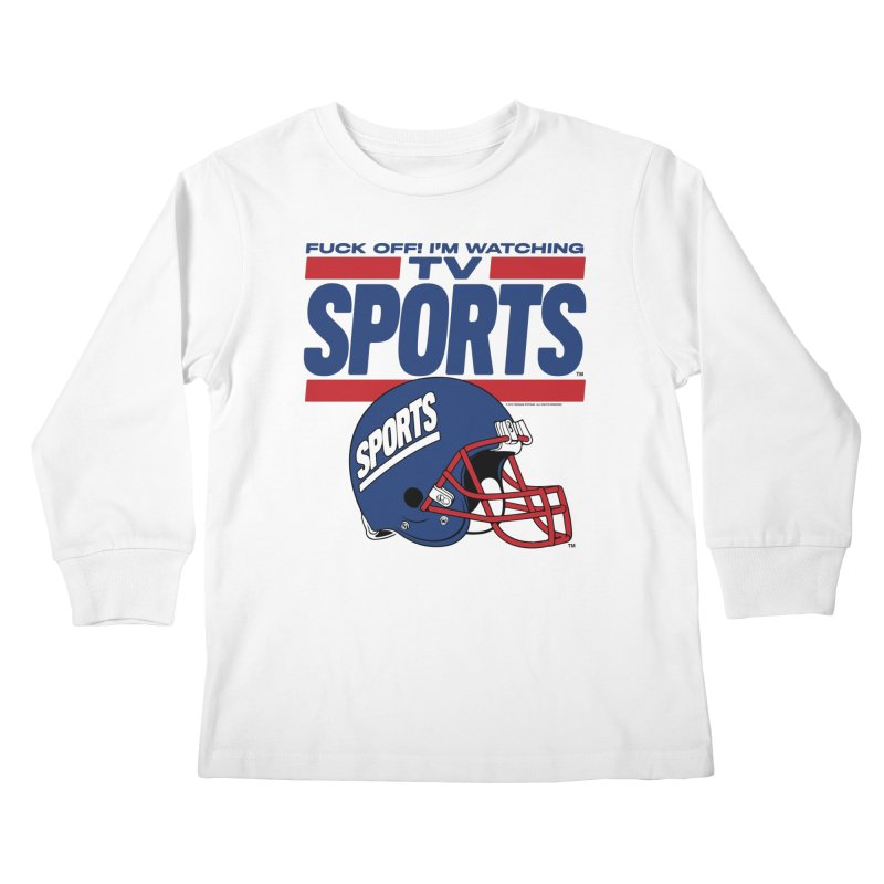 TV SPORTS Kids Longsleeve T-Shirt by Teenage Stepdad