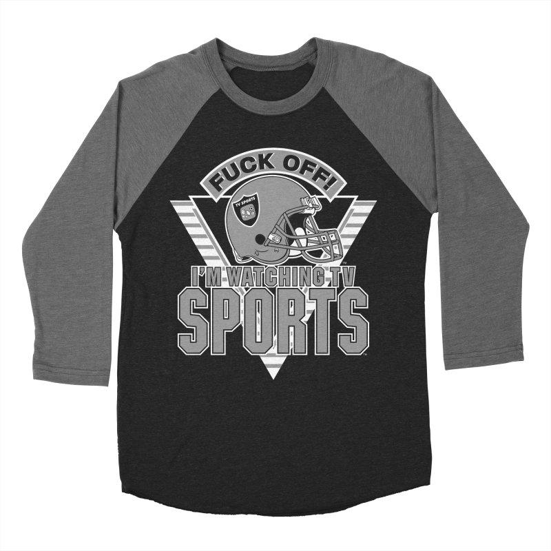 TV SPORTS LOS ANGELES Men's Baseball Triblend Longsleeve T-Shirt by Teenage Stepdad