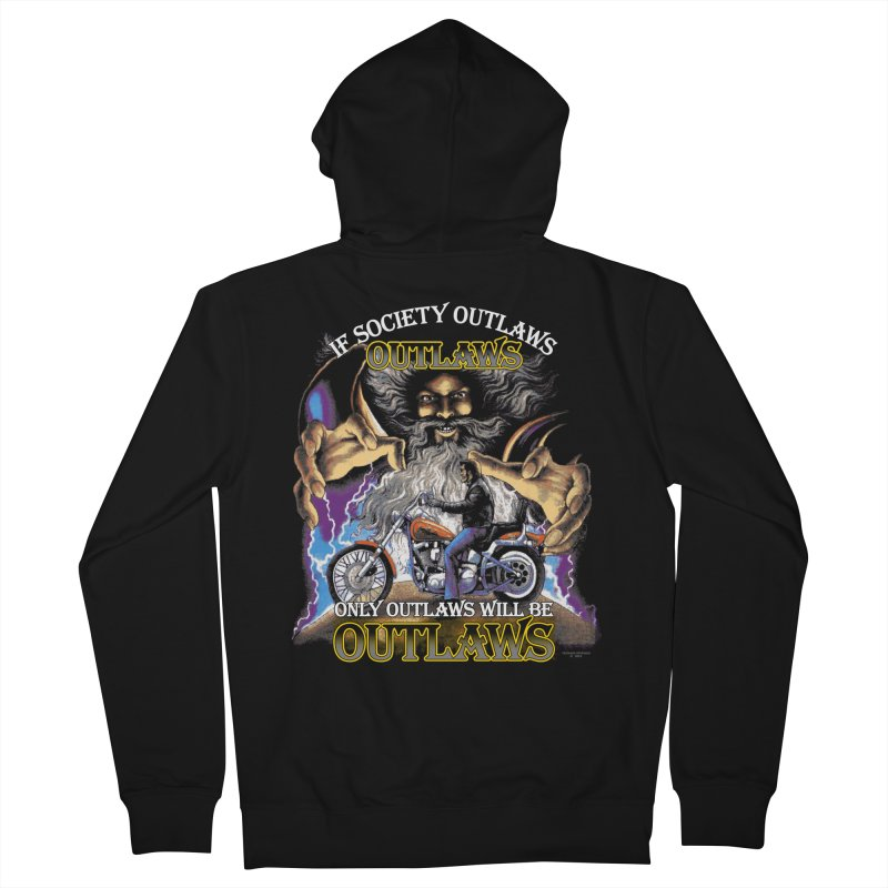 OUTLAWS OUTLAWS OUTLAWS OUTLAWS Men's French Terry Zip-Up Hoody by Teenage Stepdad