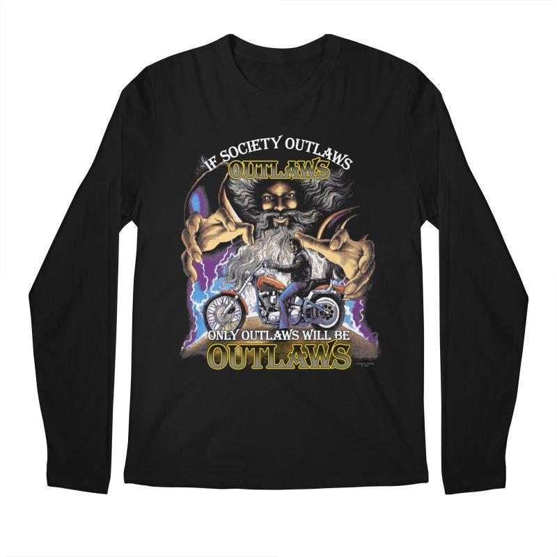 OUTLAWS OUTLAWS OUTLAWS OUTLAWS Men's Regular Longsleeve T-Shirt by Teenage Stepdad