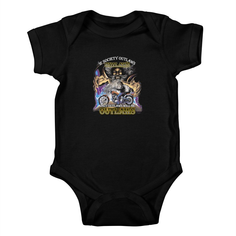 OUTLAWS OUTLAWS OUTLAWS OUTLAWS Kids Baby Bodysuit by Teenage Stepdad
