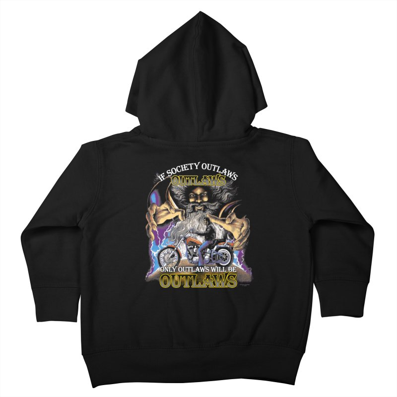 OUTLAWS OUTLAWS OUTLAWS OUTLAWS Kids Toddler Zip-Up Hoody by Teenage Stepdad
