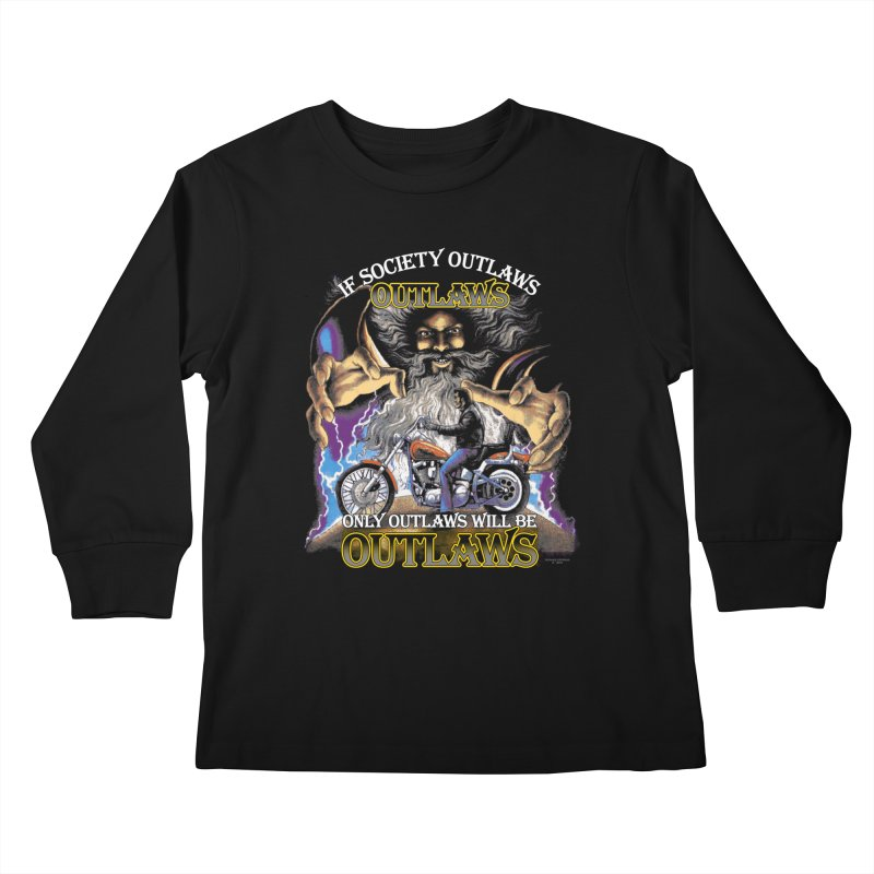 OUTLAWS OUTLAWS OUTLAWS OUTLAWS Kids Longsleeve T-Shirt by Teenage Stepdad