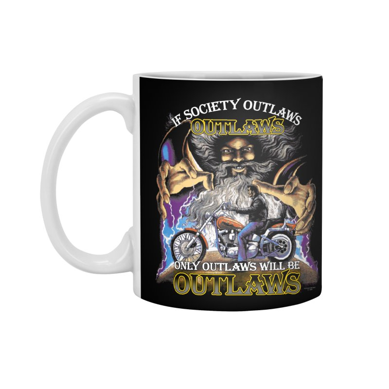 OUTLAWS OUTLAWS OUTLAWS OUTLAWS Accessories Standard Mug by Teenage Stepdad