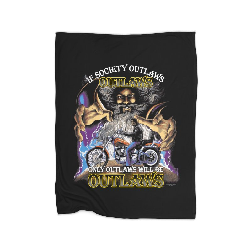 OUTLAWS OUTLAWS OUTLAWS OUTLAWS Home Fleece Blanket Blanket by Teenage Stepdad