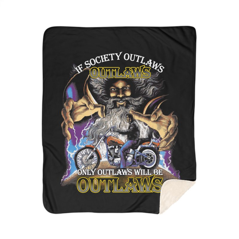 OUTLAWS OUTLAWS OUTLAWS OUTLAWS Home Sherpa Blanket Blanket by Teenage Stepdad