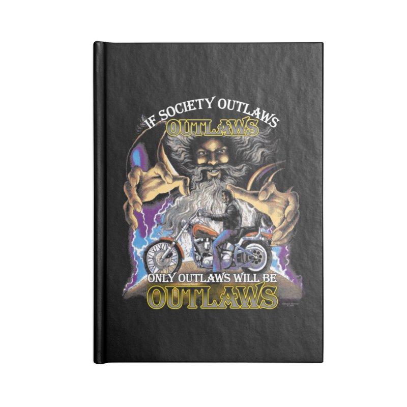 OUTLAWS OUTLAWS OUTLAWS OUTLAWS Accessories Lined Journal Notebook by Teenage Stepdad