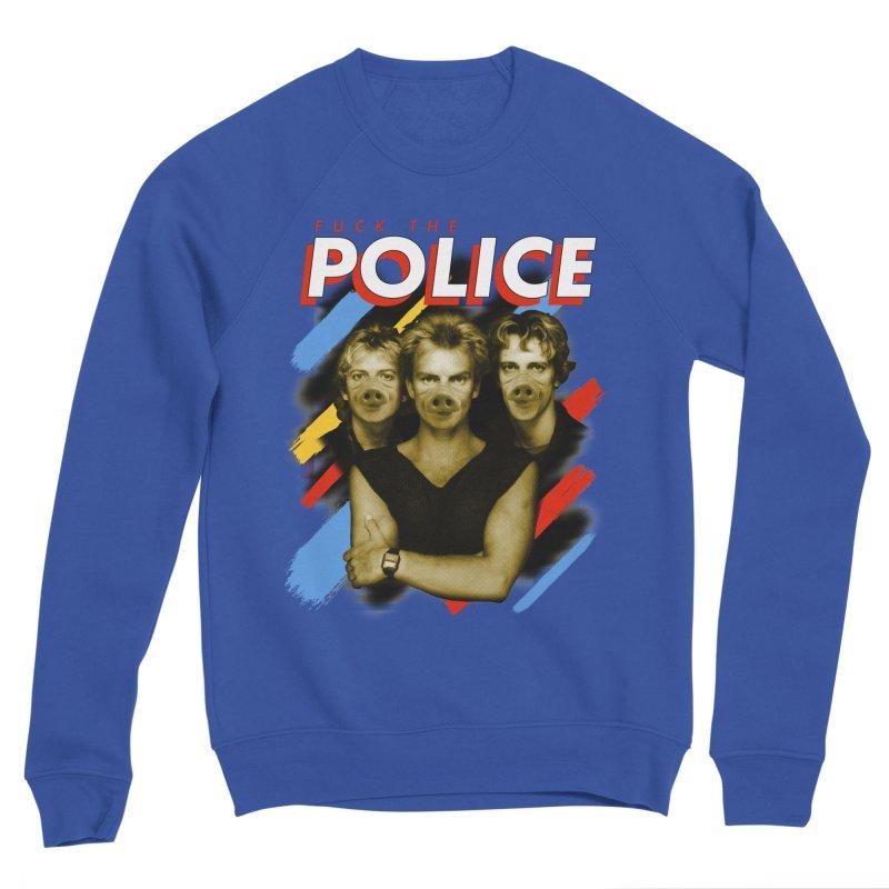 FUCK THE POLICE Men's Sponge Fleece Sweatshirt by Teenage Stepdad