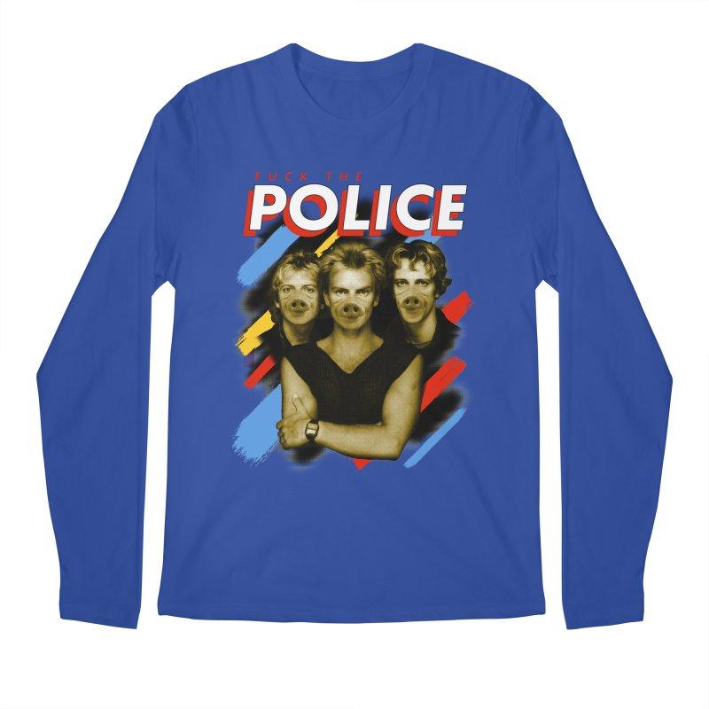 FUCK THE POLICE Men's Regular Longsleeve T-Shirt by Teenage Stepdad