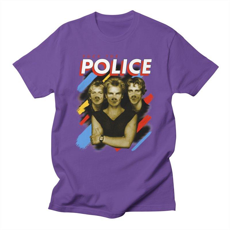 FUCK THE POLICE Men's Regular T-Shirt by Teenage Stepdad