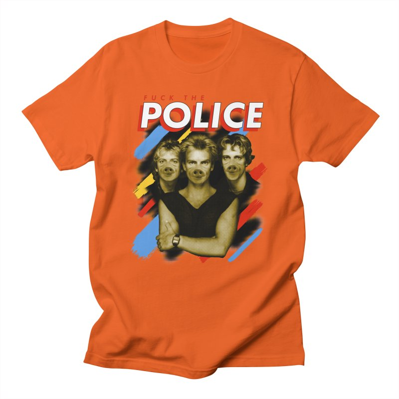 FUCK THE POLICE Men's Regular T-Shirt by Teenage Stepdad