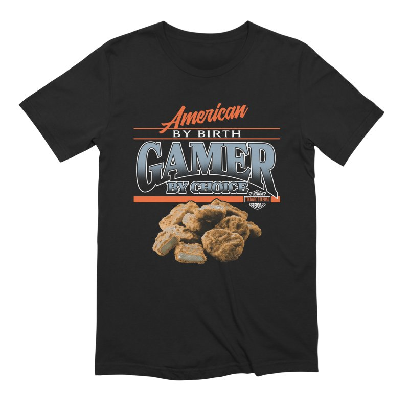 GAMER BY CHOICE in Men's Extra Soft T-Shirt Black by Teenage Stepdad