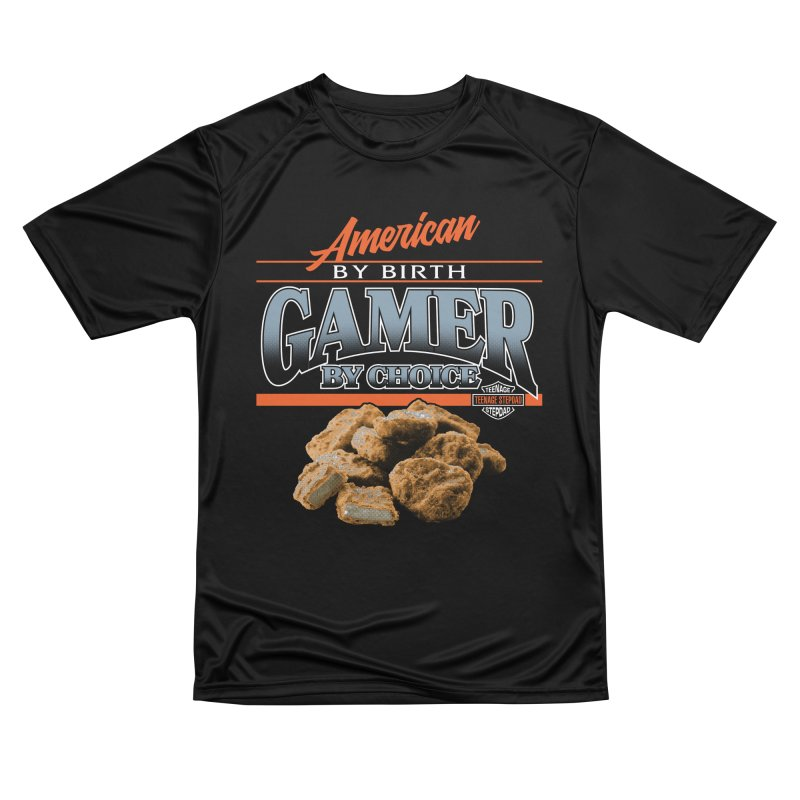 GAMER BY CHOICE Men's Performance T-Shirt by Teenage Stepdad