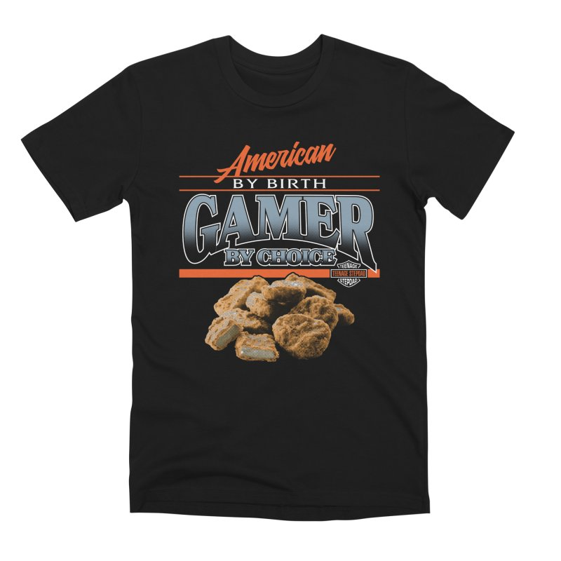 GAMER BY CHOICE Men's Premium T-Shirt by Teenage Stepdad