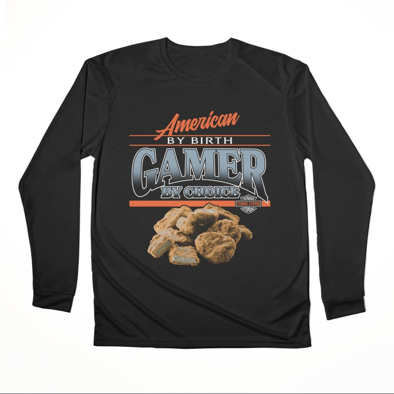 GAMER BY CHOICE Men's Performance Longsleeve T-Shirt by Teenage Stepdad