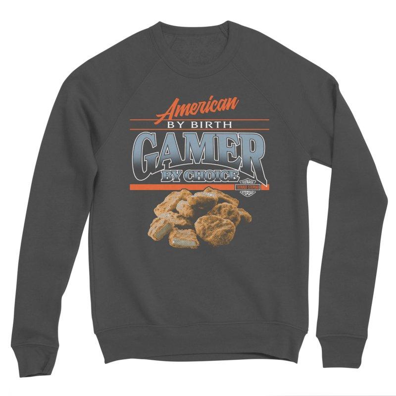 GAMER BY CHOICE Men's Sponge Fleece Sweatshirt by Teenage Stepdad