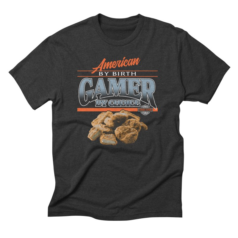 GAMER BY CHOICE Men's Triblend T-Shirt by Teenage Stepdad