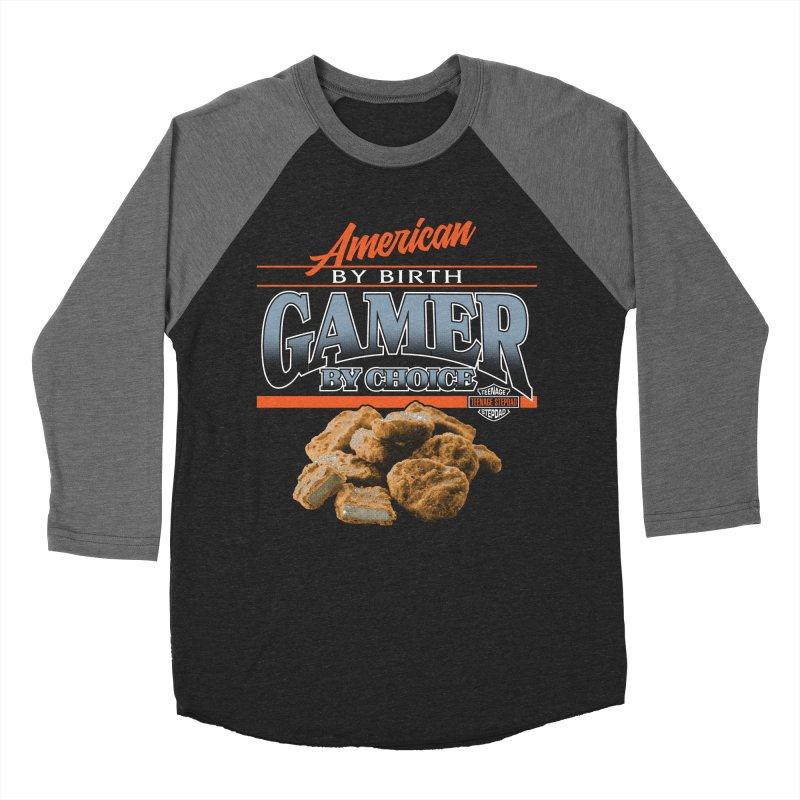 GAMER BY CHOICE Women's Baseball Triblend Longsleeve T-Shirt by Teenage Stepdad