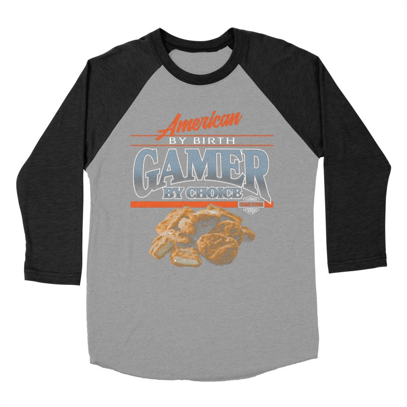 GAMER BY CHOICE Men's Baseball Triblend Longsleeve T-Shirt by Teenage Stepdad