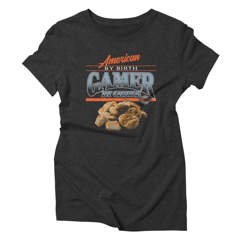 GAMER BY CHOICE Women's Triblend T-Shirt by Teenage Stepdad