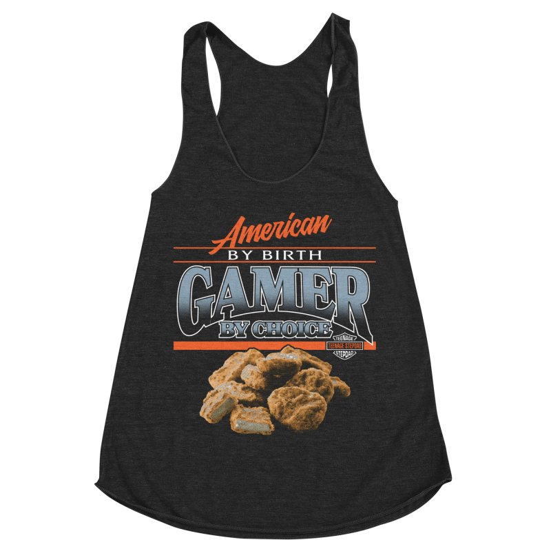 GAMER BY CHOICE Women's Racerback Triblend Tank by Teenage Stepdad