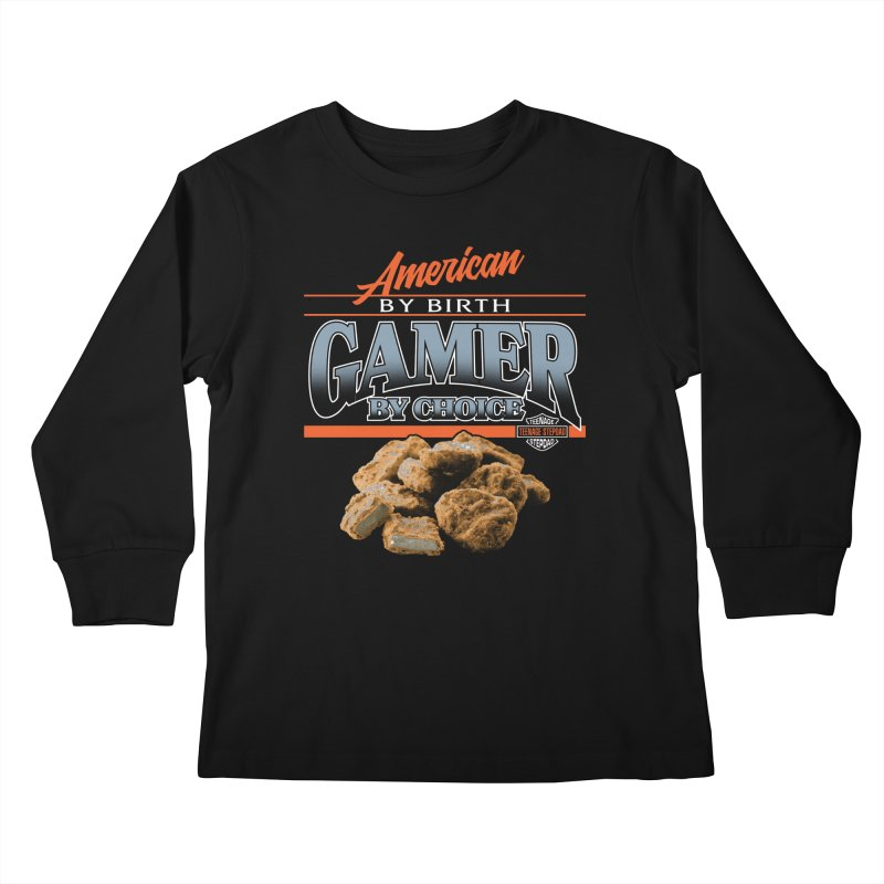 GAMER BY CHOICE Kids Longsleeve T-Shirt by Teenage Stepdad