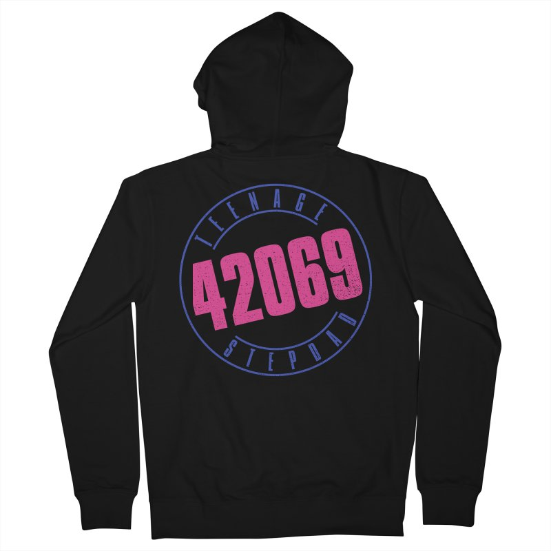 42069 Men's French Terry Zip-Up Hoody by Teenage Stepdad