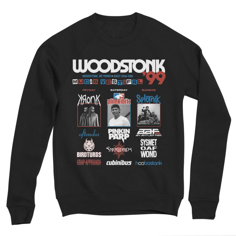 WOODSTONK '99 Men's Sponge Fleece Sweatshirt by Teenage Stepdad
