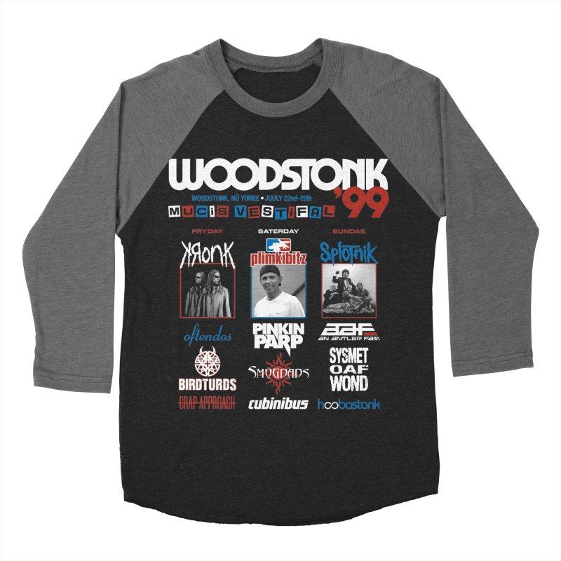 WOODSTONK '99 Women's Baseball Triblend Longsleeve T-Shirt by Teenage Stepdad