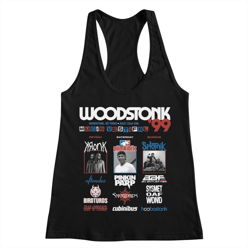 WOODSTONK '99 Women's Racerback Tank by Teenage Stepdad