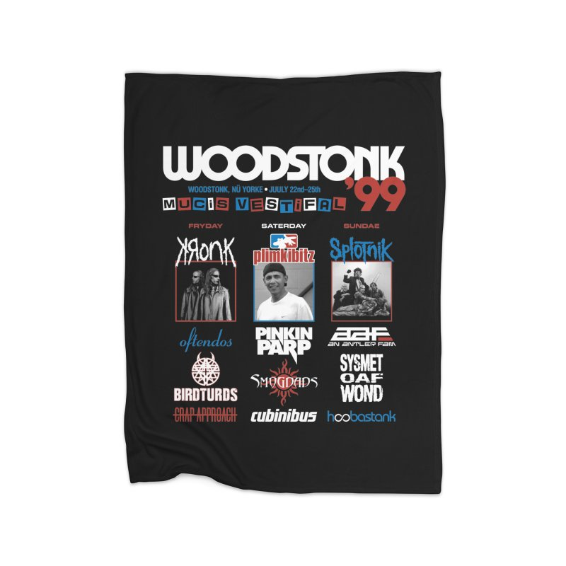 WOODSTONK '99 Home Fleece Blanket Blanket by Teenage Stepdad