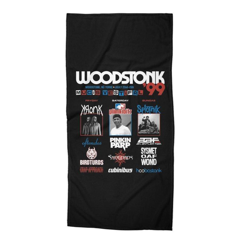 WOODSTONK '99 Accessories Beach Towel by Teenage Stepdad
