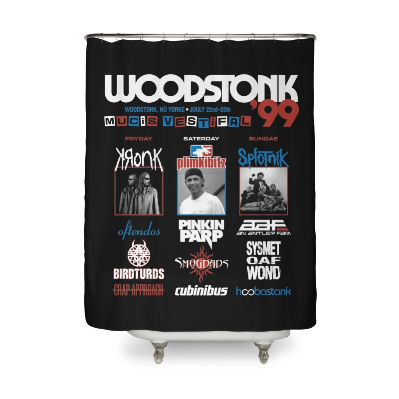WOODSTONK '99 Home Shower Curtain by Teenage Stepdad