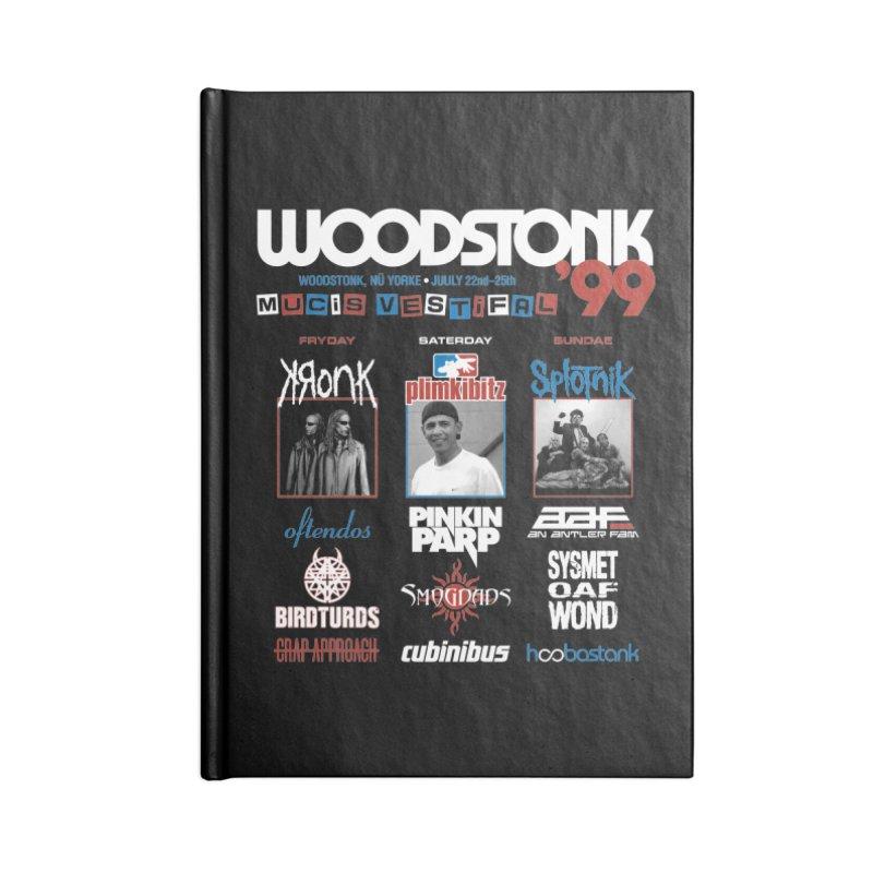 WOODSTONK '99 Accessories Lined Journal Notebook by Teenage Stepdad