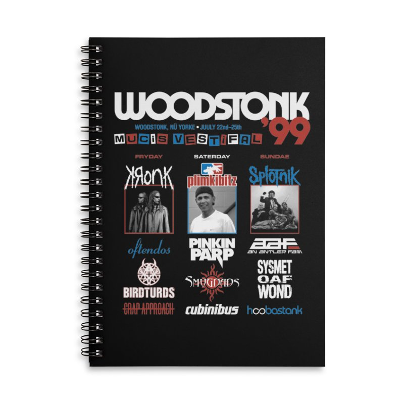 WOODSTONK '99 Accessories Lined Spiral Notebook by Teenage Stepdad