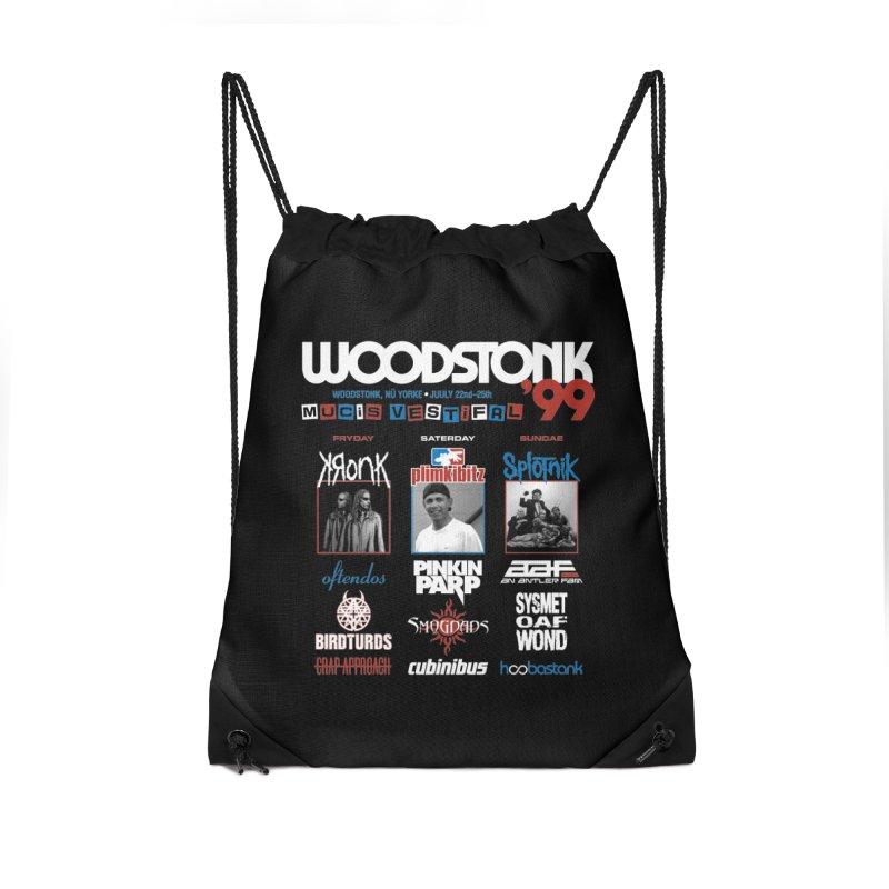 WOODSTONK '99 Accessories Drawstring Bag Bag by Teenage Stepdad