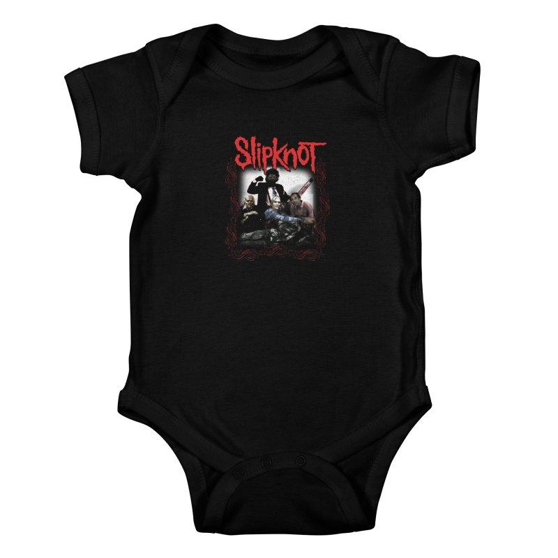 TEXAS NU METAL MASSACRE PART 2 Kids Baby Bodysuit by Teenage Stepdad