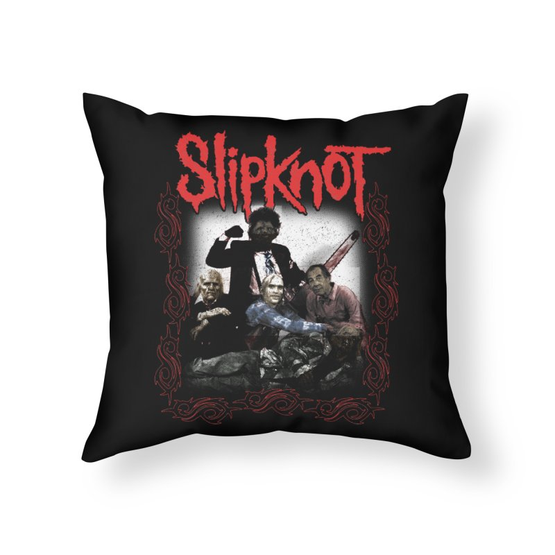 TEXAS NU METAL MASSACRE PART 2 Home Throw Pillow by Teenage Stepdad
