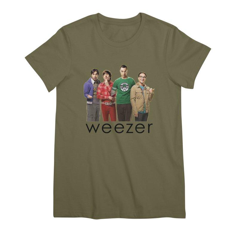 BAD BAND THEORY Women's Premium T-Shirt by Teenage Stepdad