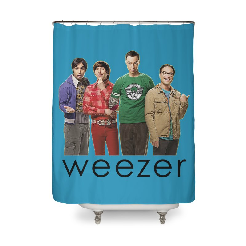 BAD BAND THEORY Home Shower Curtain by Teenage Stepdad