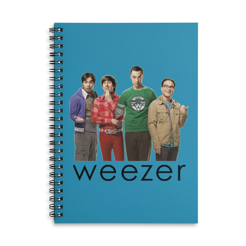 BAD BAND THEORY Accessories Lined Spiral Notebook by Teenage Stepdad