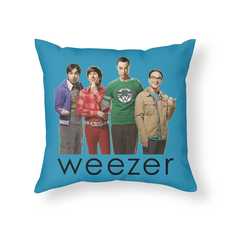 BAD BAND THEORY Home Throw Pillow by Teenage Stepdad