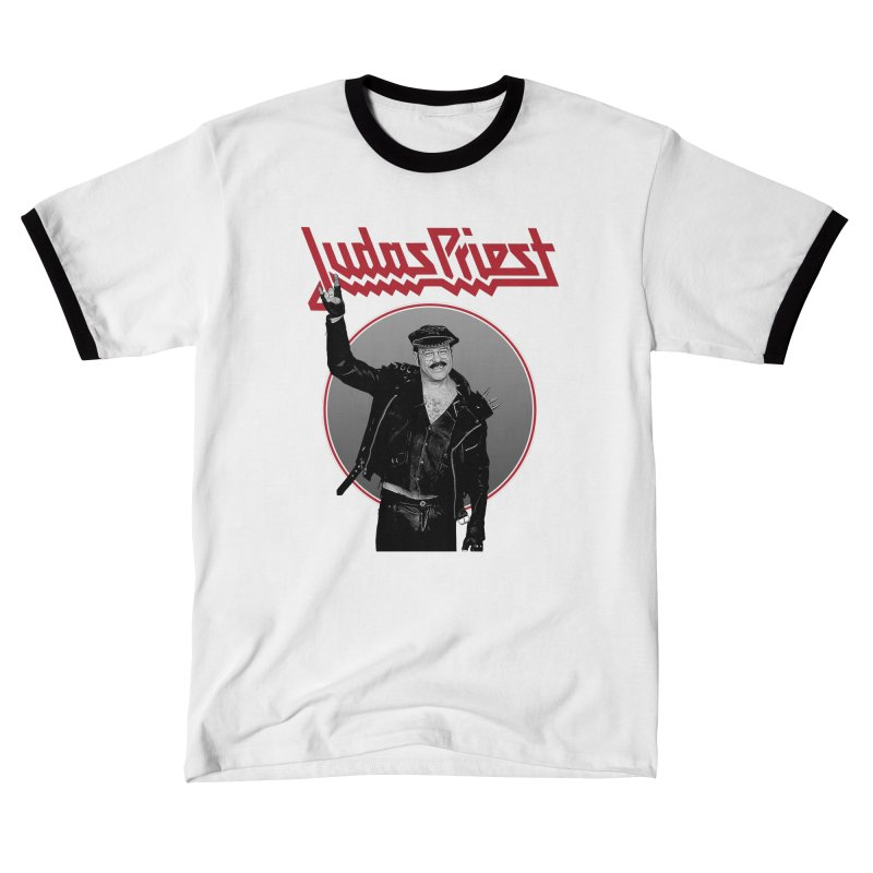JUDAS FUNKE in Men's Ringer T-Shirt White / Black by Teenage Stepdad
